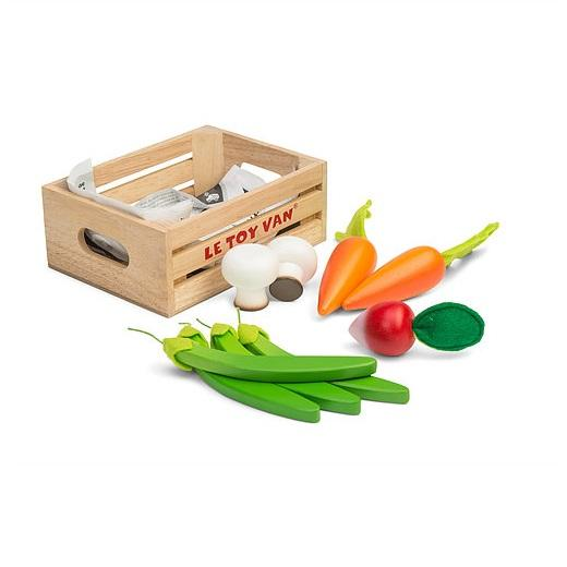 LOVE THIS! Le Toy Van Honeybake Harvest Vegetables Five-A-Day Crate from Le Toy Van - shop at littlewhimsy NZ