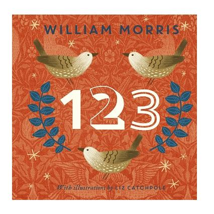 LOVE THIS! 123 - William Morris Board Book from Penguin Books - shop at littlewhimsy NZ