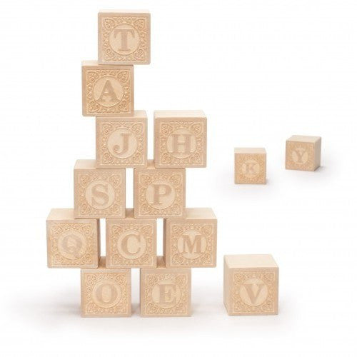 LOVE THIS! Uppercase Alphablanks - Alphabet Blocks from Uncle Goose - shop at littlewhimsy NZ