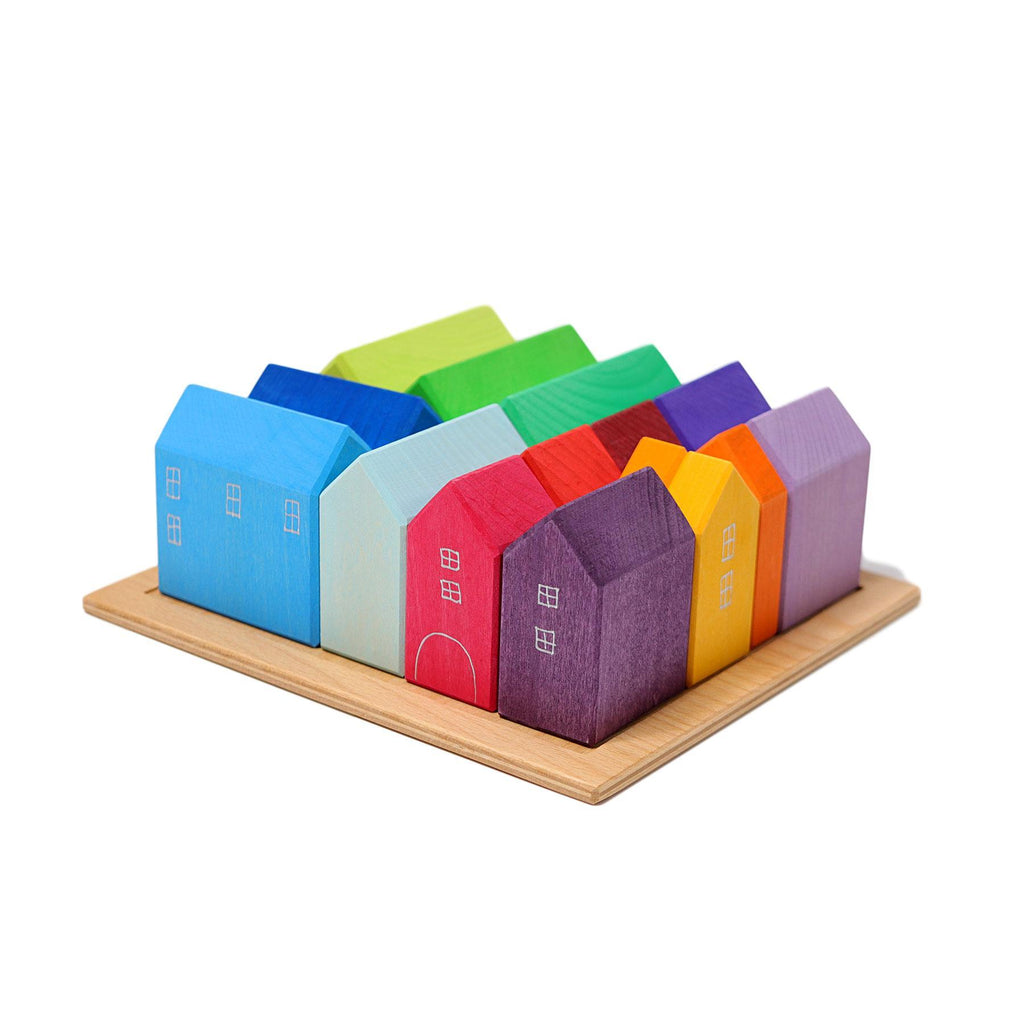 LOVE THIS! Grimm's Wooden House Puzzle from Grimm's - shop at littlewhimsy NZ