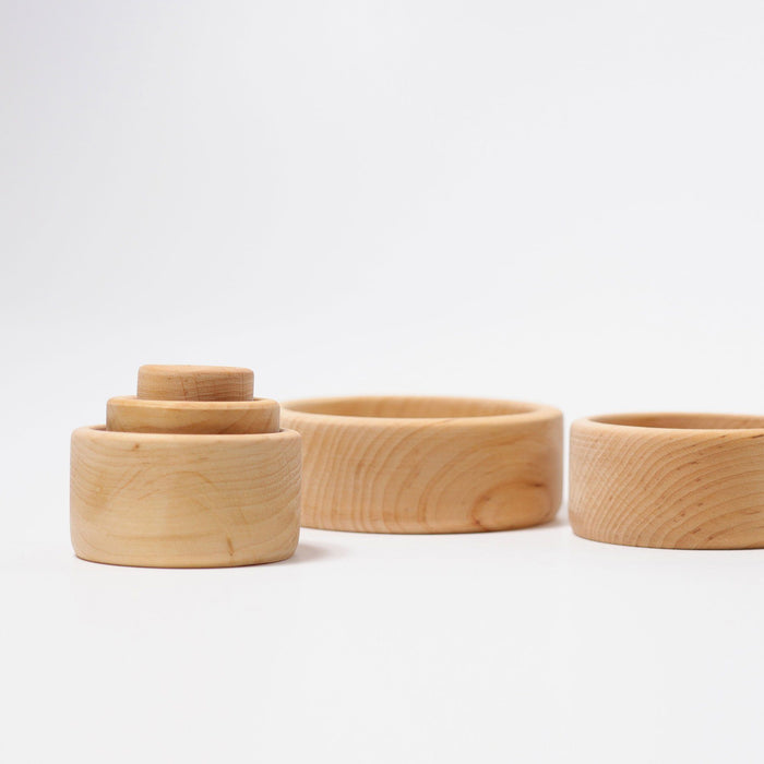 LOVE THIS! Grimm's Stacking Bowls - Natural from Grimm's - shop at littlewhimsy NZ
