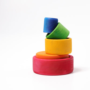 LOVE THIS! Grimm's Stacking Bowls - Coloured from Grimm's - shop at littlewhimsy NZ