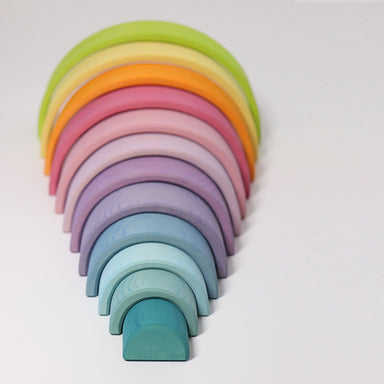 LOVE THIS! Grimm's Extra Large Pastel Rainbow Tunnel from Grimm's - shop at littlewhimsy NZ