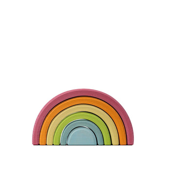 LOVE THIS! Grimm's Pastel Rainbow Tunnel Medium from Grimm's - shop at littlewhimsy NZ