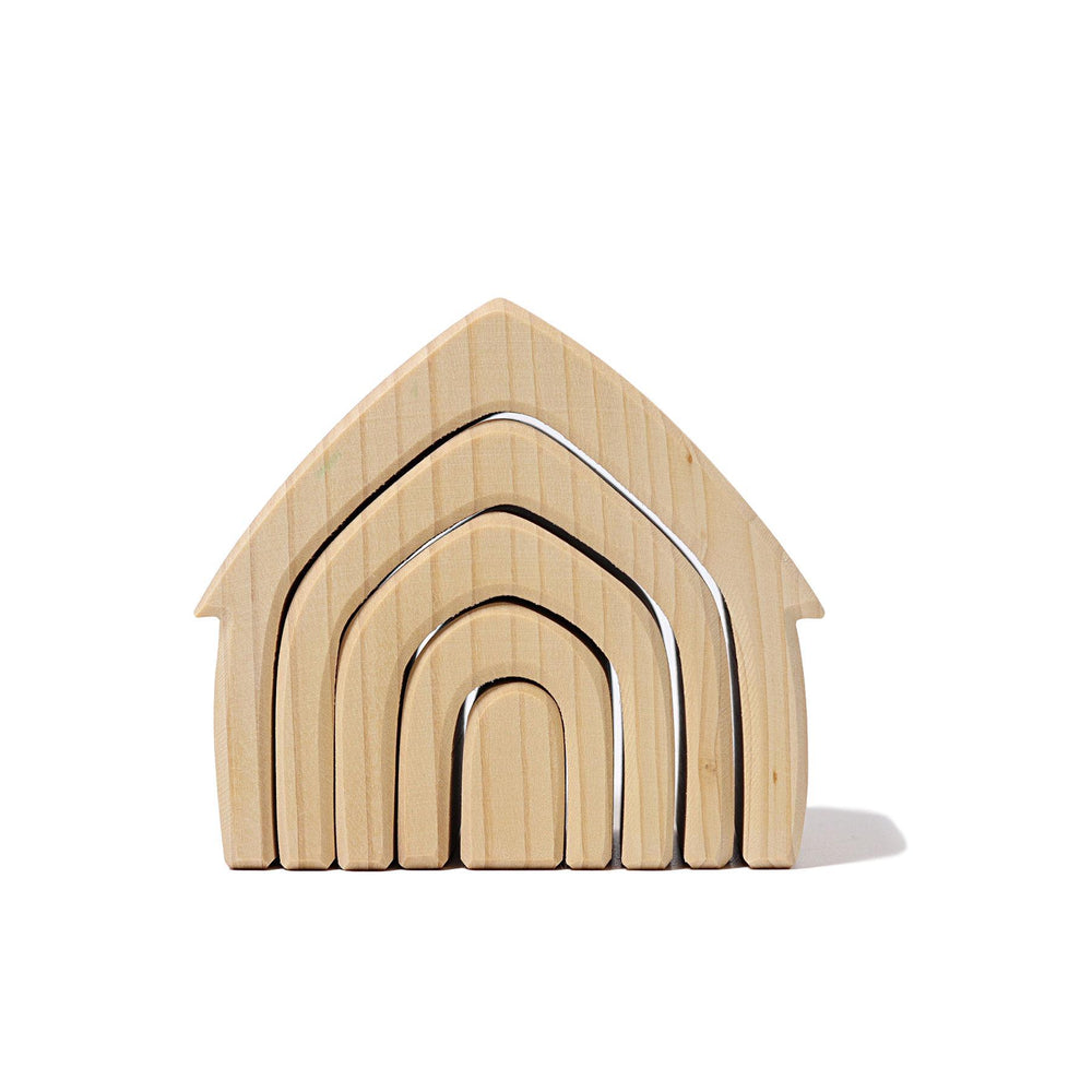LOVE THIS! Grimm's Natural House Stacker from Grimm's - shop at littlewhimsy NZ