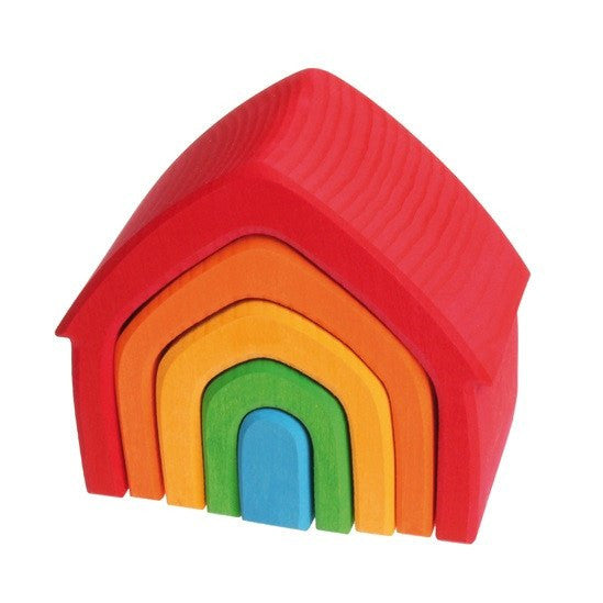 LOVE THIS! Grimm's Bright House Stacker from Grimm's - shop at littlewhimsy NZ