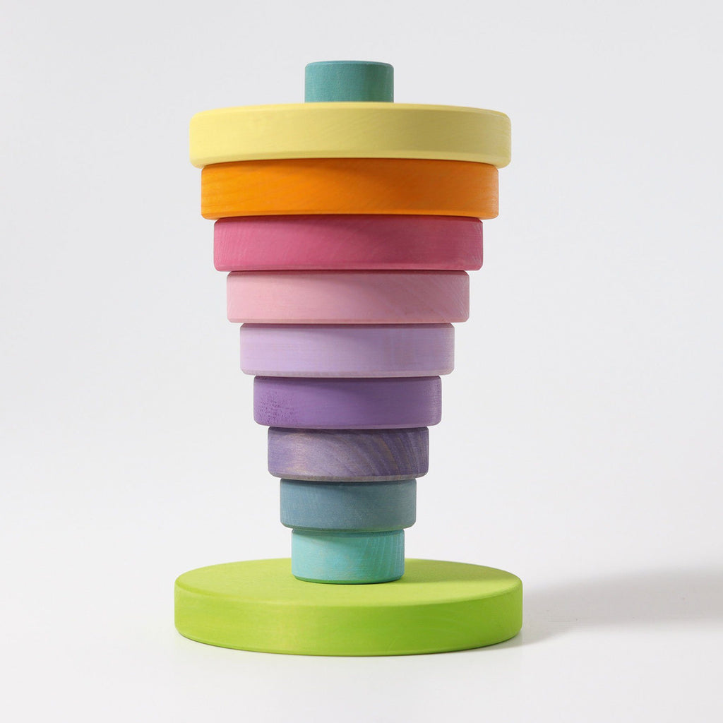 LOVE THIS! Grimm's Pastel Conical Tower Large from Grimm's - shop at littlewhimsy NZ