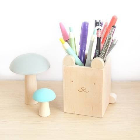 Wood Bear Pencil Cup - little whimsy - 1