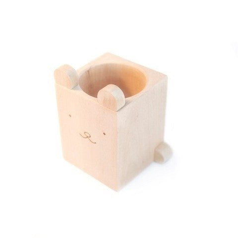 LOVE THIS! Wood Bear Pencil Cup from Briki Vroom Vroom - shop at littlewhimsy NZ