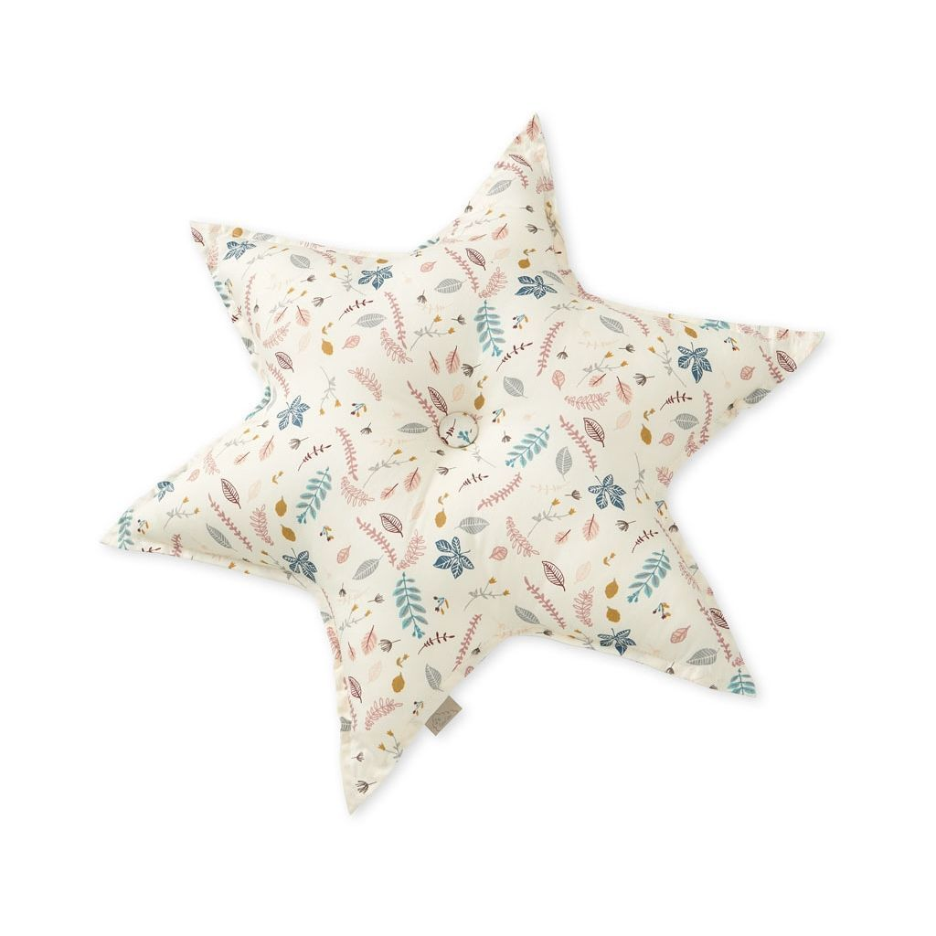 LOVE THIS! CAM CAM Star Cushion Pressed Leaves from CamCam - shop at littlewhimsy NZ