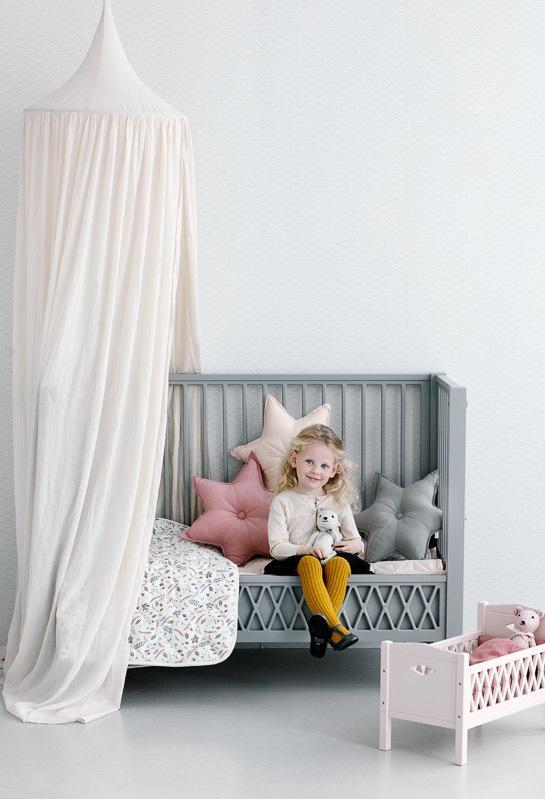 LOVE THIS! Cam Cam Doll Cot Bed Harlequin Blossom Pink from CamCam - shop at littlewhimsy NZ