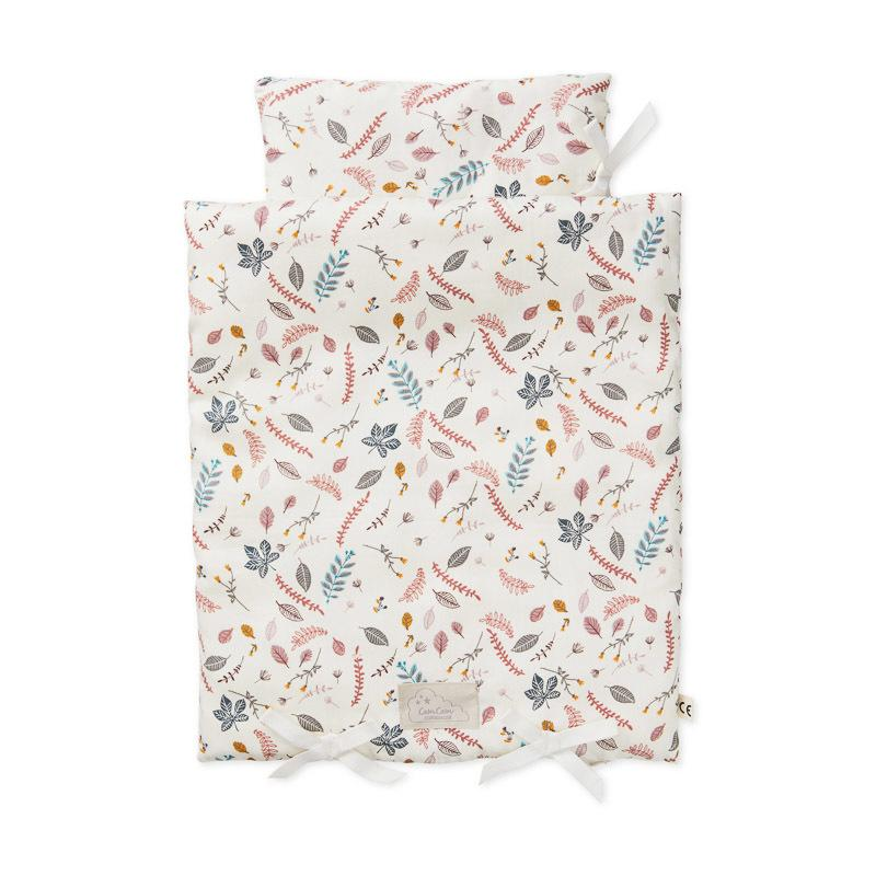 LOVE THIS! Cam Cam Doll's Bedding - Pressed Leaves from CamCam - shop at littlewhimsy NZ