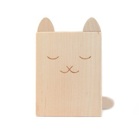 Wood Cat Pencil Cup from Briki Vroom Vroom - shop at littlewhimsy NZ