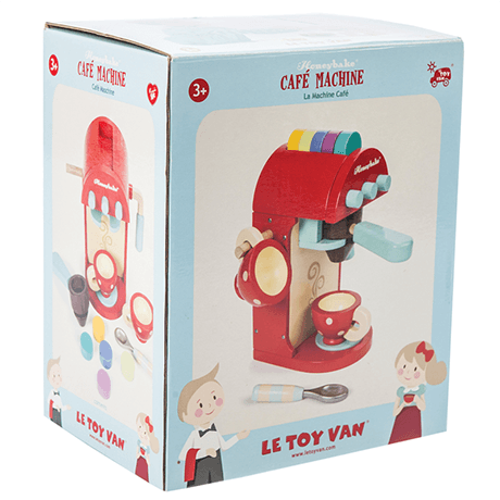 LOVE THIS! Le Toy Van Honeybake Coffe Cafe Machine from Le Toy Van - shop at littlewhimsy NZ