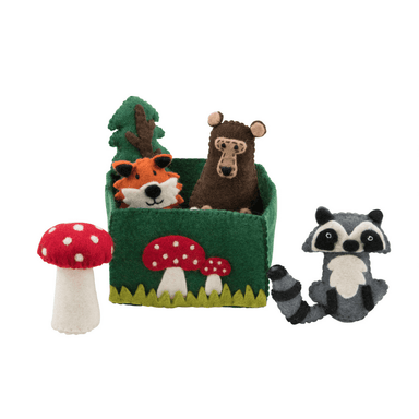 LOVE THIS! Woodland Animal Play Set from Pashom - shop at littlewhimsy NZ
