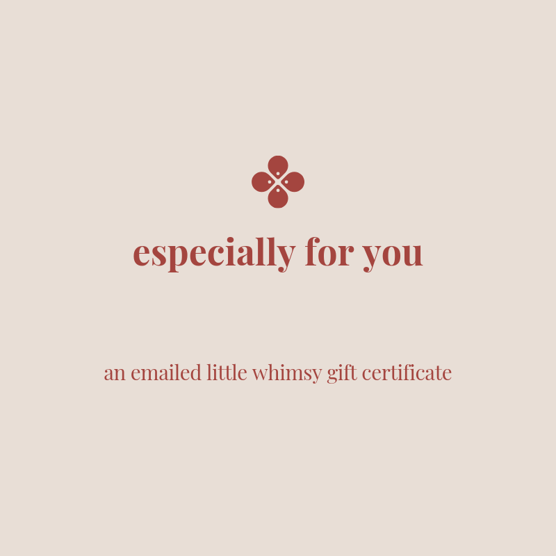 LOVE THIS! Gift Card - EMAILED from little whimsy - shop at littlewhimsy NZ