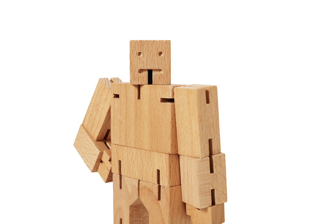 LOVE THIS! Cubebot Natural Small from Areaware - shop at littlewhimsy NZ