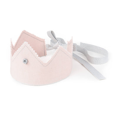 Crown Powder Pink with Silver Ribbon