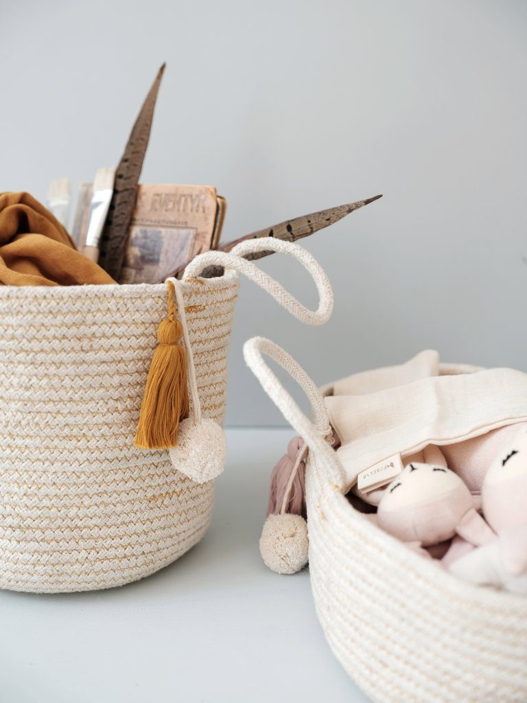 LOVE THIS! Fabelab Rope Doll Basket Mauve from Fabelab - shop at littlewhimsy NZ