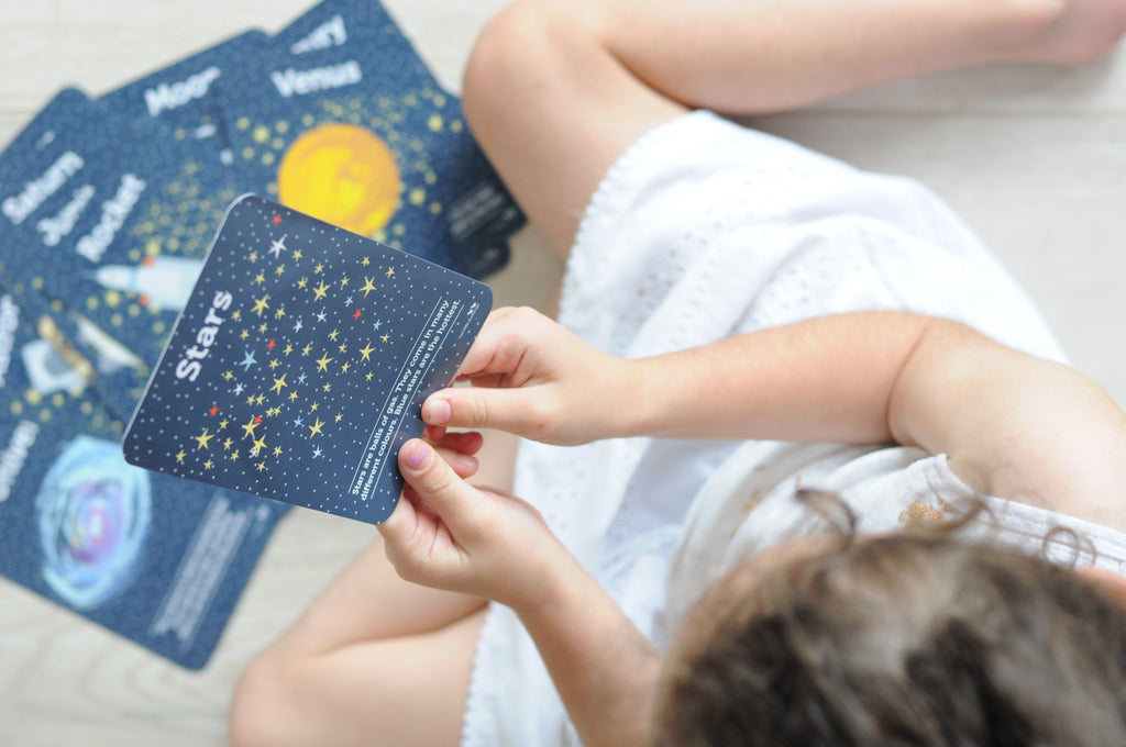 LOVE THIS! Flash Cards - Space from Two Little Ducklings - shop at littlewhimsy NZ