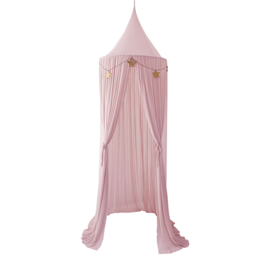 Spinkie Sheer Canopy In DUSTY PINK + Star Garland