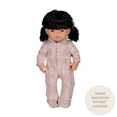 Doll Clothing | Sleep Suit Almond Burrowers for 38cm Doll