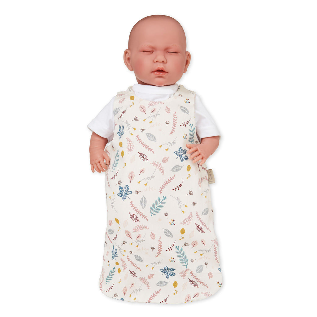 LOVE THIS! Cam Cam Doll's Sleeping Bag - GOTS - Pressed Leaves Rose from CamCam - shop at littlewhimsy NZ