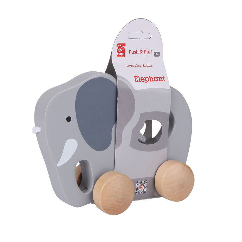 LOVE THIS! Hape Push + Pull Elephant from Hape - shop at littlewhimsy NZ
