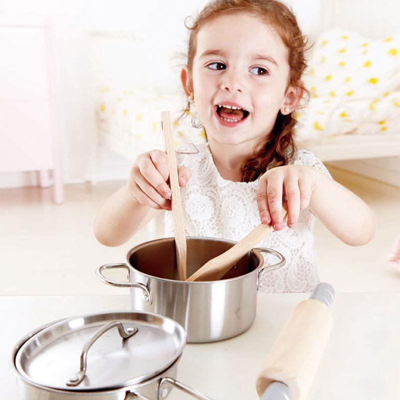LOVE THIS! Hape Chef's Cooking Set from Hape - shop at littlewhimsy NZ