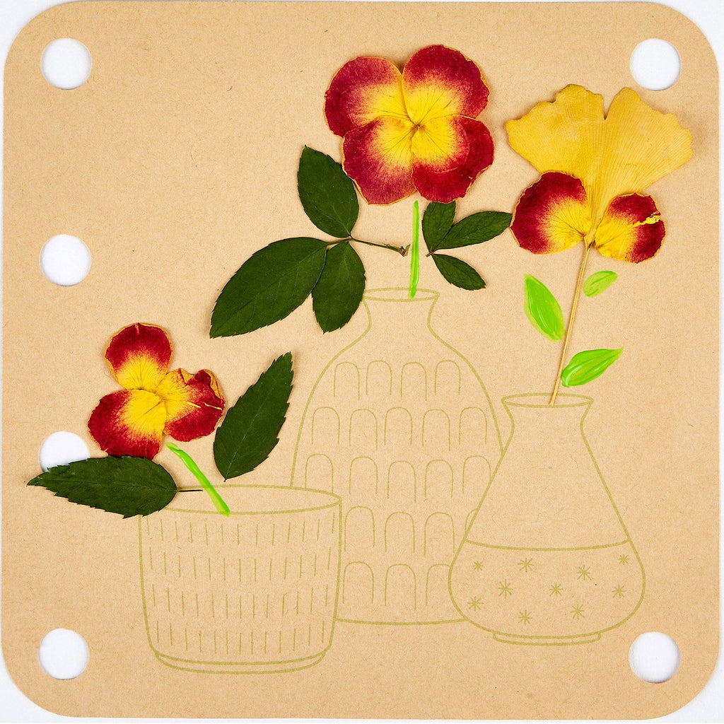 LOVE THIS! Flower Press Art DIY Kit from Hape - shop at littlewhimsy NZ