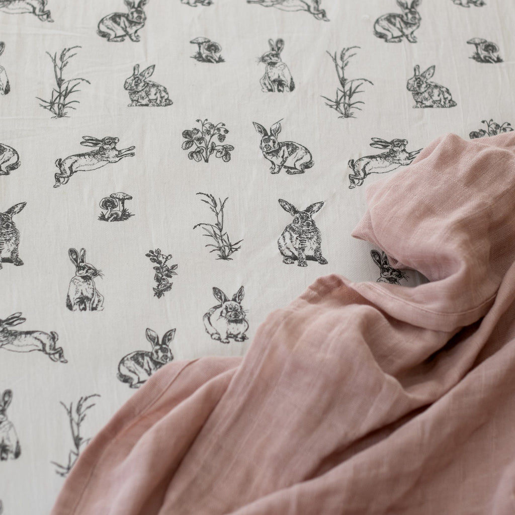 LOVE THIS! Almond Burrowers Cot Sheet from Burrow & Be - shop at littlewhimsy NZ