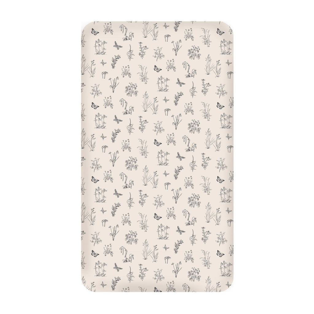 LOVE THIS! Blush Meadow Cot Sheet from Burrow & Be - shop at littlewhimsy NZ