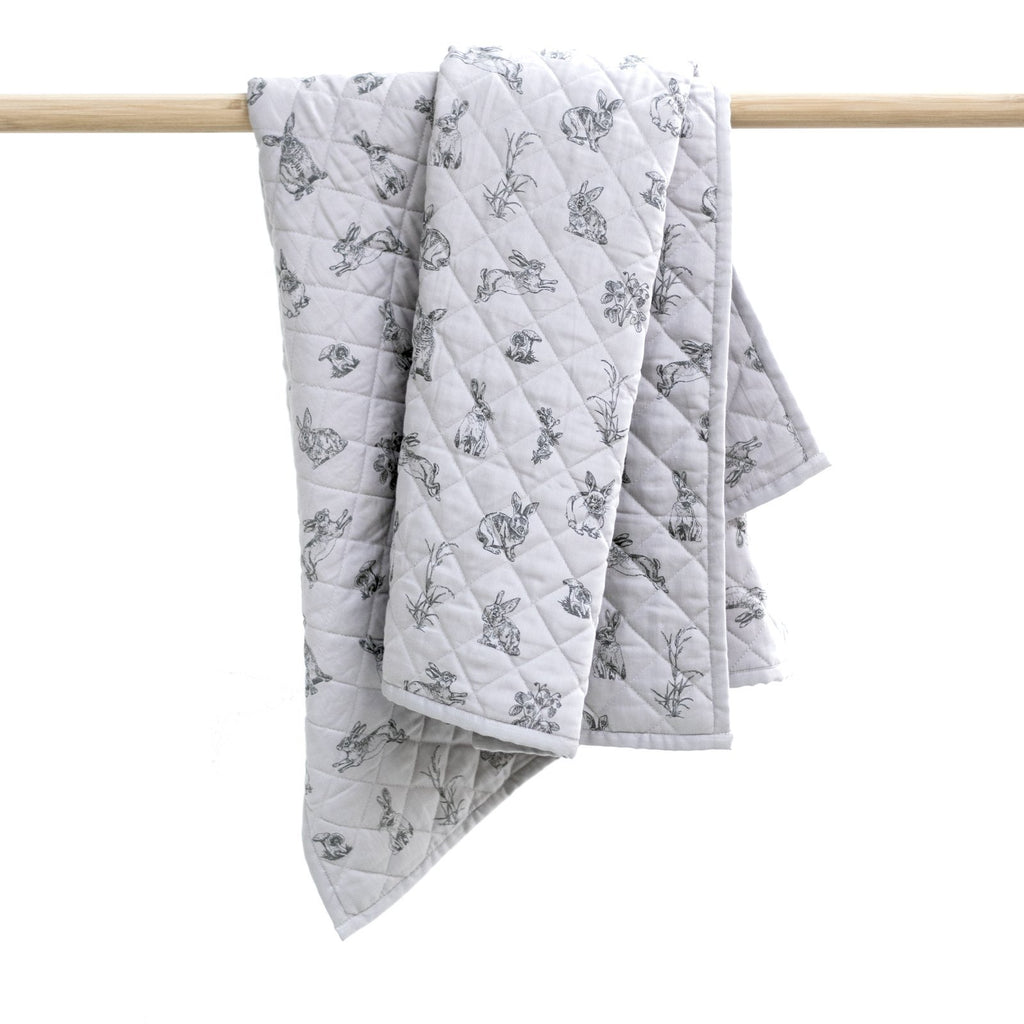 LOVE THIS! Grey Burrowers Quilt - Cot from Burrow & Be - shop at littlewhimsy NZ
