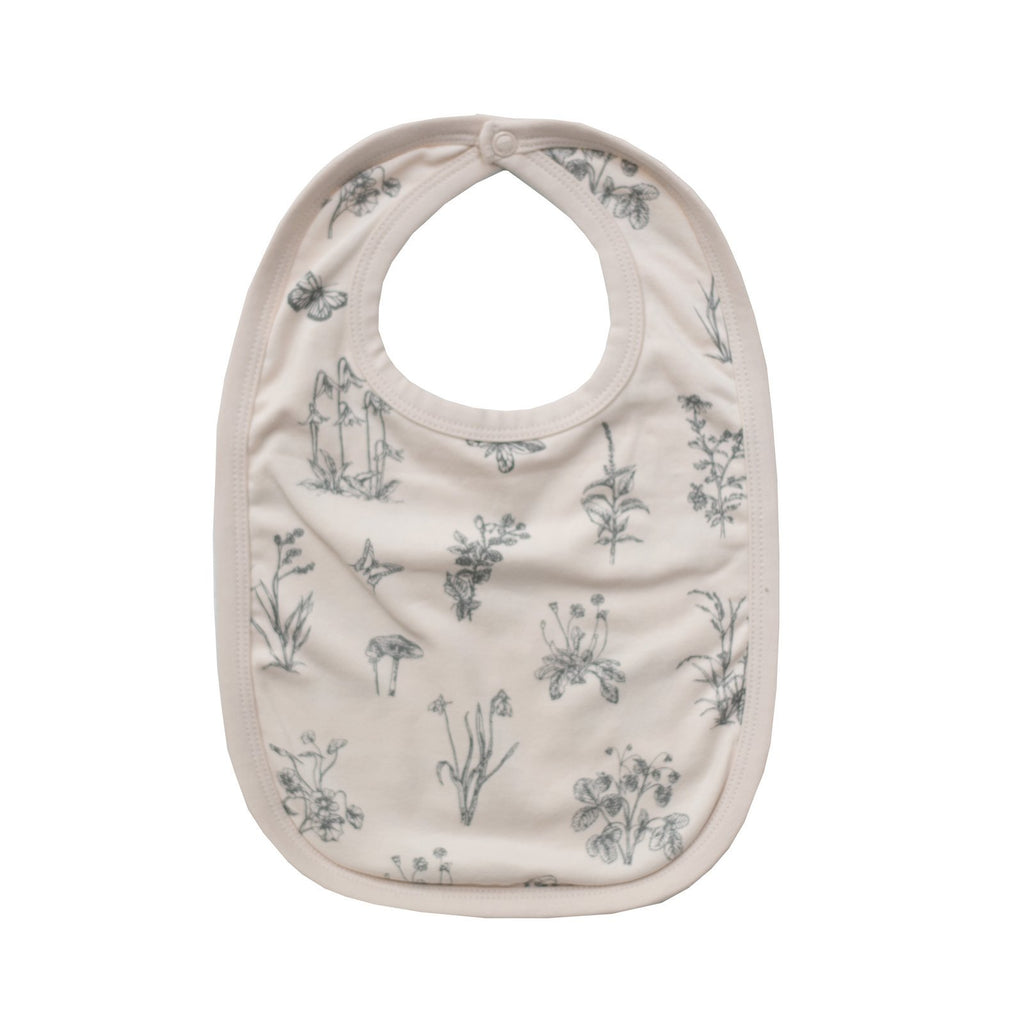 LOVE THIS! Essentials Bib - Blush Meadow from Burrow & Be - shop at littlewhimsy NZ