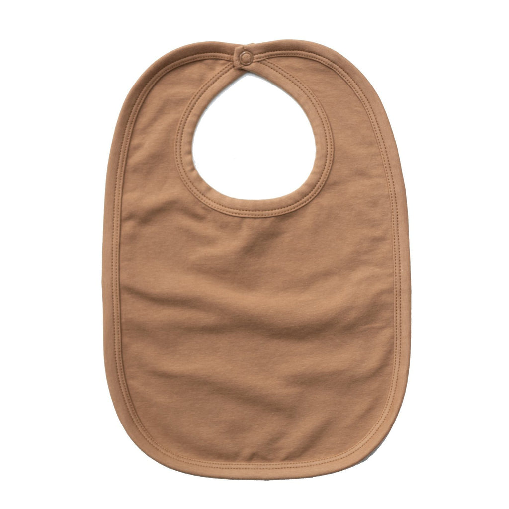 LOVE THIS! Essentials Bib - Almond Tawny Brown from Burrow & Be - shop at littlewhimsy NZ