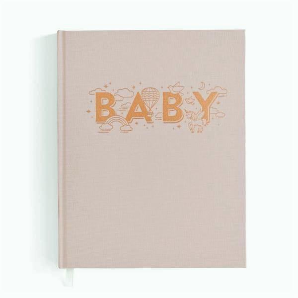 LOVE THIS! Baby Book Blush Taupe from Fox & Fallow - shop at littlewhimsy NZ
