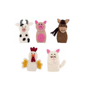 Felt Puppet Set - Farmyard LAST ONE for 2019