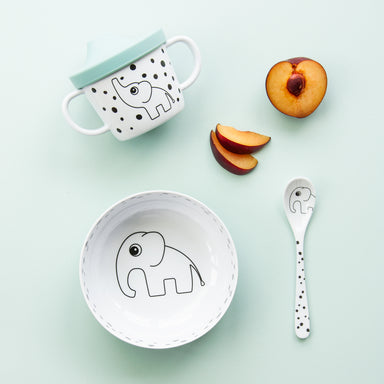First Meal Set - Happy Dots Blue