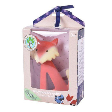 LOVE THIS! Fox Rubber Rattle from Tikiri - shop at littlewhimsy NZ