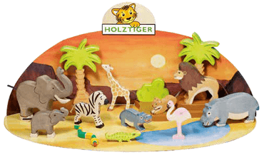 LOVE THIS! Wooden Lion Cub Small Standing - Holztiger from Holztiger - shop at littlewhimsy NZ