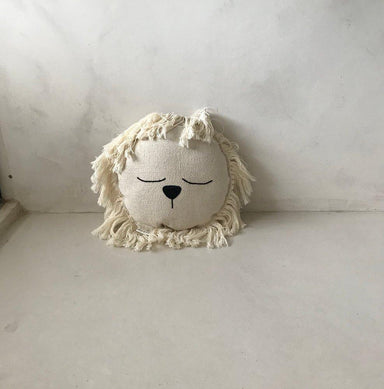 LOVE THIS! Lion Cushion - Ivory 25cm from ILA Y ELA - shop at littlewhimsy NZ