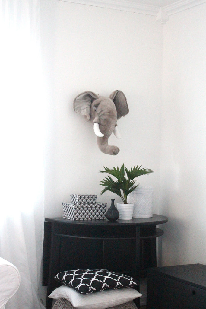 LOVE THIS! George the Elephant - Wild & Soft Animal Head Large from Wild & Soft - shop at littlewhimsy NZ