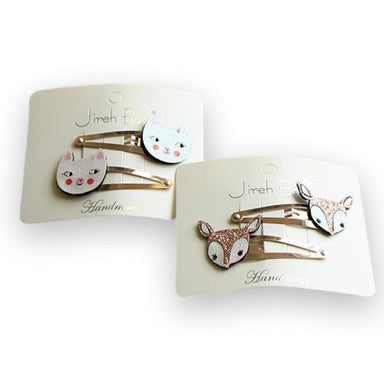 LOVE THIS! Bambi and Cat Hairpin Sets from Jireh Bow - shop at littlewhimsy NZ