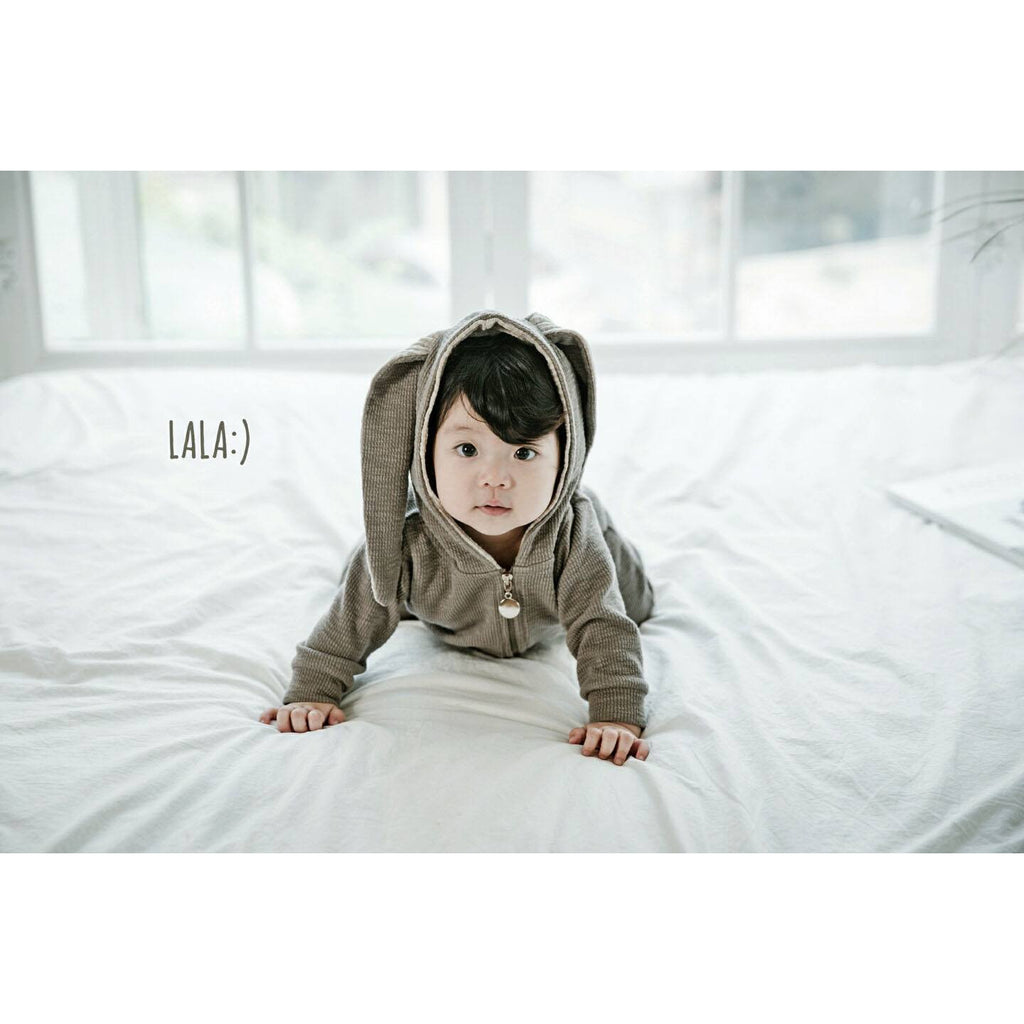LOVE THIS! Rabbit Suit by Lala - Grey from LaLa - shop at littlewhimsy NZ