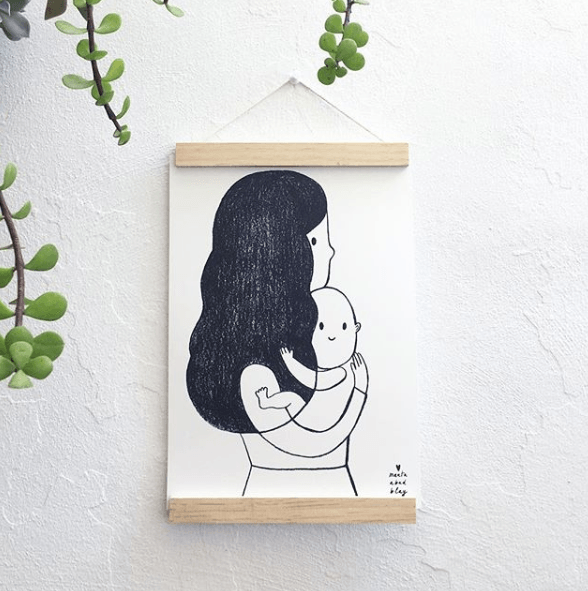 LOVE THIS! Marta Abad Blay Embrace Print from Marta Abad Blay - shop at littlewhimsy NZ