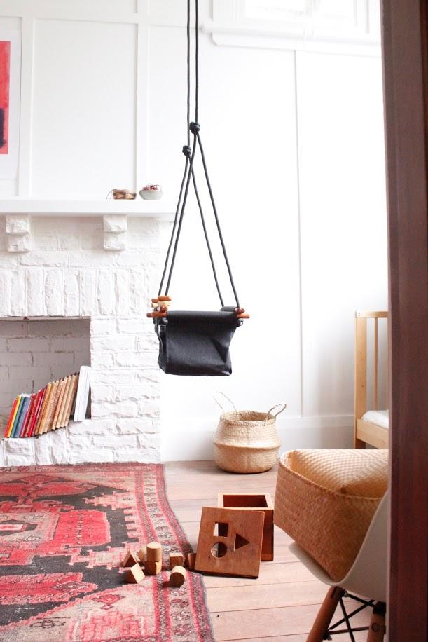 LOVE THIS! Solvej Baby + Toddler Swings - Slate Grey from Solvej Swings - shop at littlewhimsy NZ