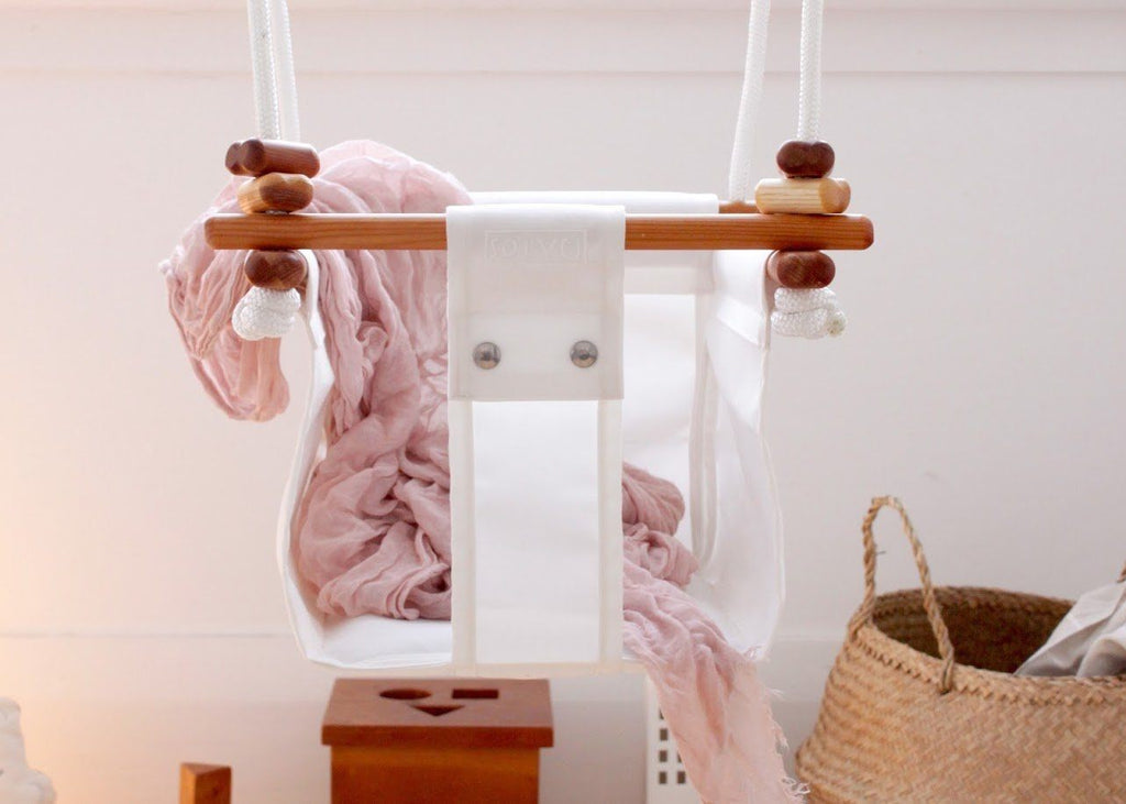 LOVE THIS! Solvej Baby + Toddler Swings - Merino White from Solvej Swings - shop at littlewhimsy NZ