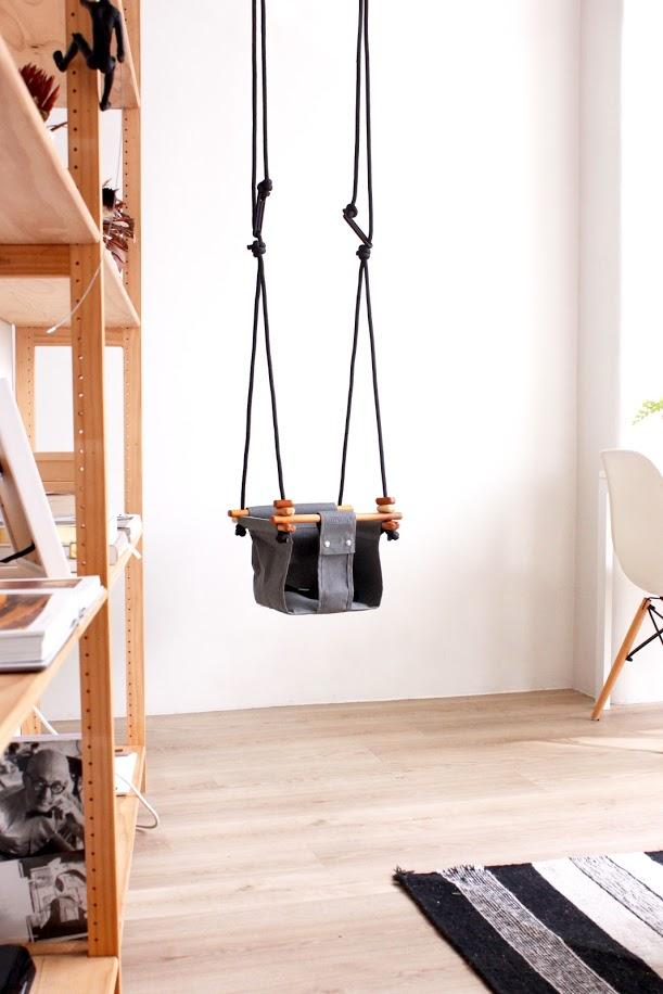 LOVE THIS! Solvej Baby + Toddler Swings - Smokey Grey from Solvej Swings - shop at littlewhimsy NZ