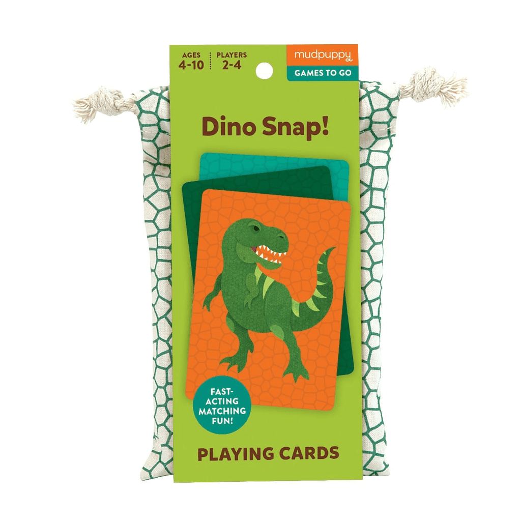 LOVE THIS! Dino Snap! Playing Cards to Go from Mud Puppy - shop at littlewhimsy NZ