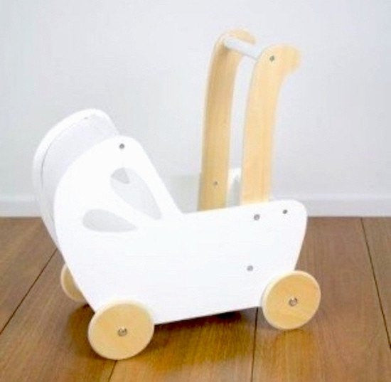 LOVE THIS! Moover Line White Doll's Pram from Moover - shop at littlewhimsy NZ